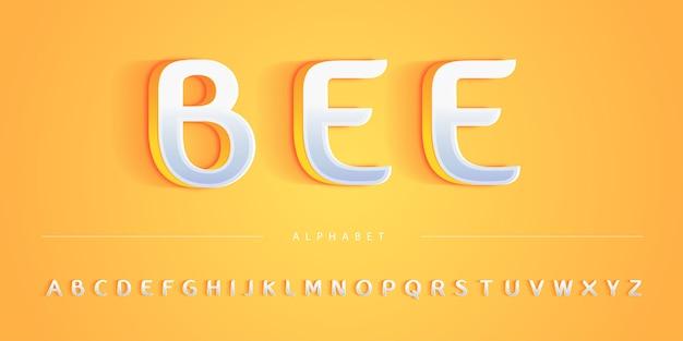 Élégante couleur claire avec ensemble d'abeilles anglaises yellow bee
