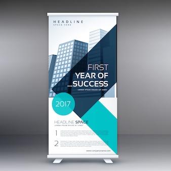 Élégante géométrie géométrique standee roll up business banner design template