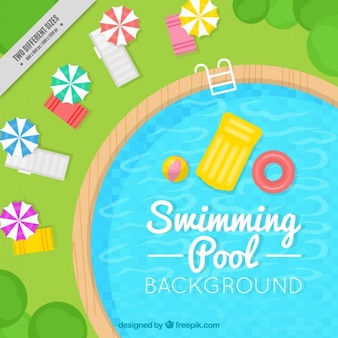 Élégante piscine fond