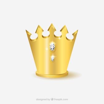 Élégante royaliste couronne d'or