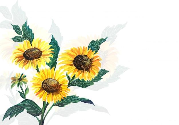 Élégantes fleurs jaunes