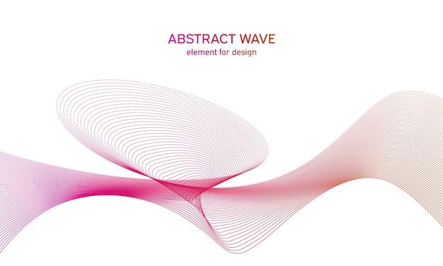 Élément abstrait de vague colorée pour la conception. égaliseur de piste de fréquence numérique.