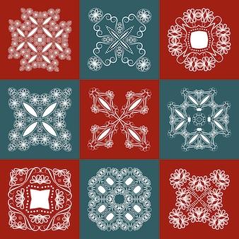 Élément ajouré pour la conception, tissu de serviette