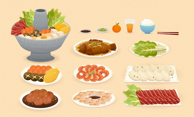 Élément alimentaire du nouvel an chinois