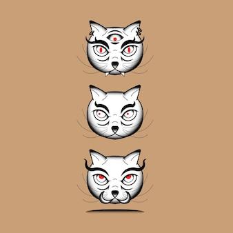 Élément de chat monstre japonais bakeneko