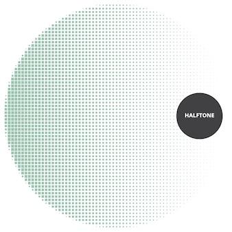 Élément de conception abstraite de demi-teintes, sur fond blanc