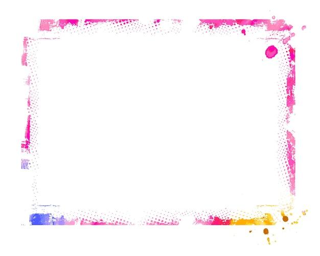 Élément de conception de bordure grunge abstraite - élément de vecteur