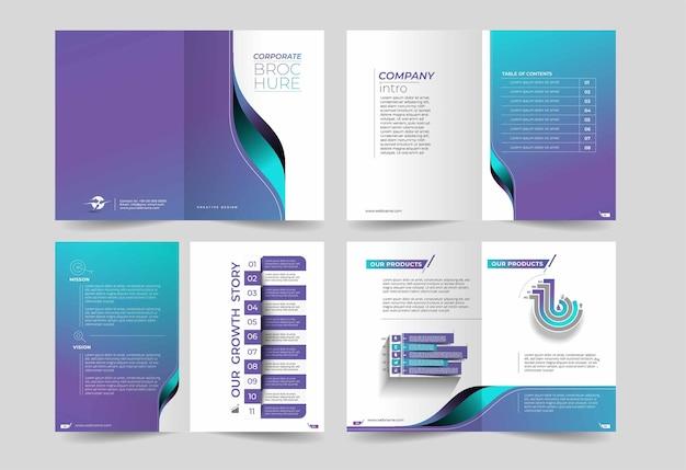 Élément de conception de brochure à trois volets