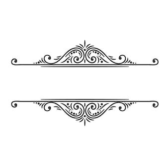 Élément de conception calligraphique