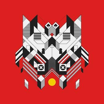Élément de conception géométrique abstrait sur fond coloré. conception futuriste, formes géométriques.