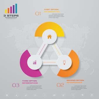 Élément de conception graphique infographie abstraite
