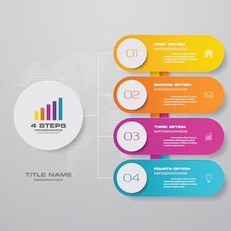 Élément de conception de graphique infographique pour la présentation des données.