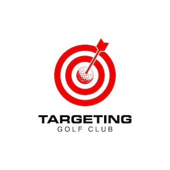 Élément de conception de logo d'icône de cible de golf