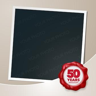 Élément de conception de modèle, carte de voeux avec collage de cadre photo