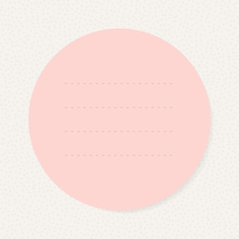 Élément de conception de papier à lettres cercle rose