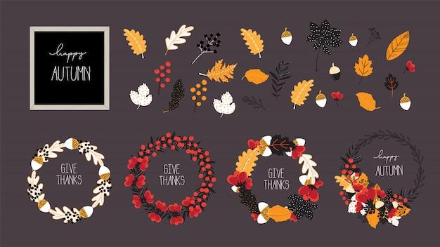 Élément de conception pour le modèle de bannière et affiche de vente automne, automne et thanksgiving.