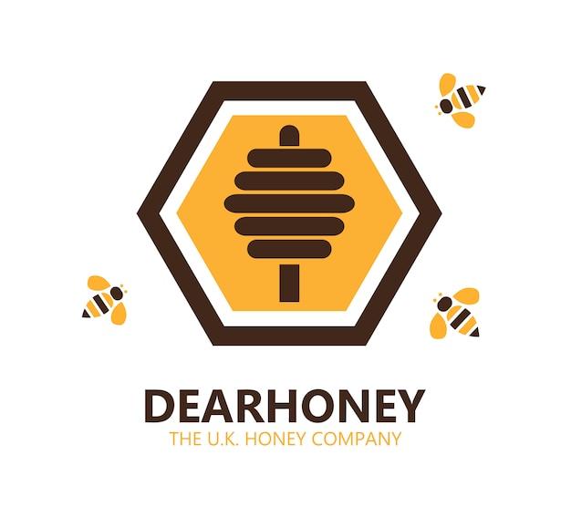 Élément de conception de symbole de miel