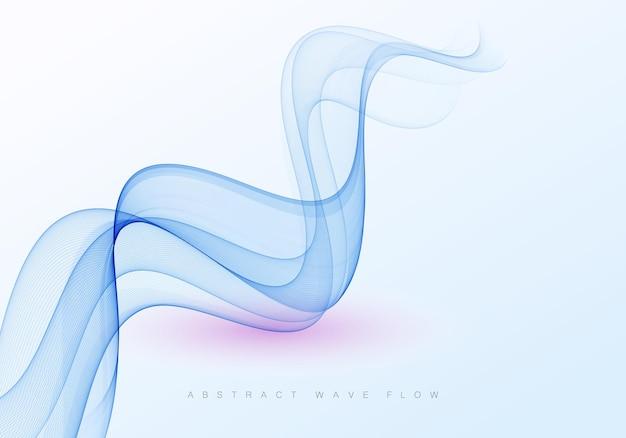 Élément de conception de vague abstraite de couleur bleue de vecteur