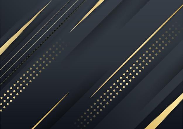 Élément de conception de vague d'or de couleur brillante abstraite