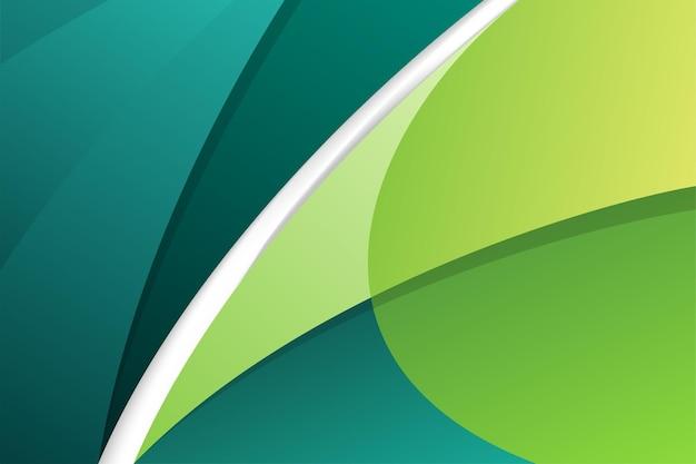 Élément de courbes de mouvement abstrait moderne vert et turquoise sur fond.