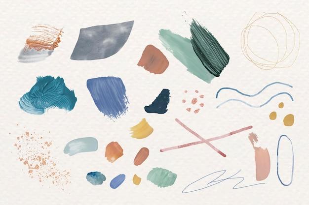 Élément de design abstrait coloré