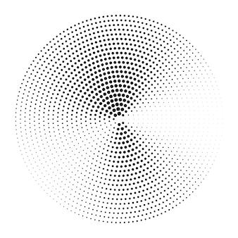 Élément de design abstrait demi-teinte, illustration vectorielle.