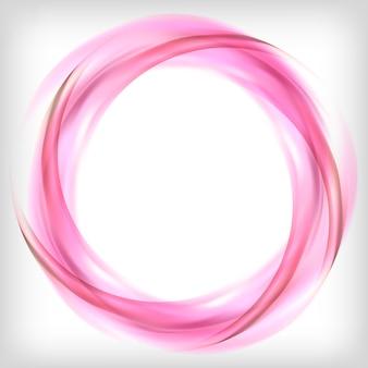Élément de design abstrait en rose