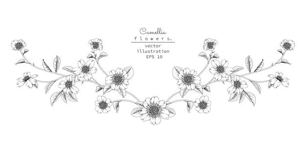 Élément de design floral pour en-tête