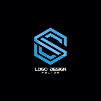 Élément de design lettre s symbole logo icon
