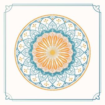 Élément de design à motifs arabesque colorée