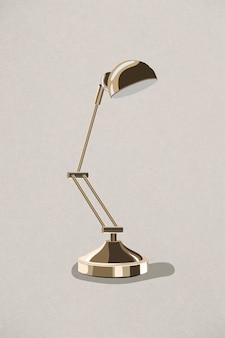 Élément de design rétro lampe en or