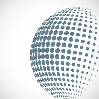 Élément de design vectoriel demi-teinte sphère