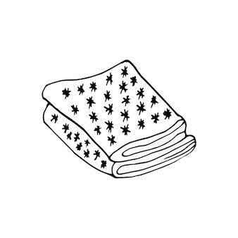 Élément dessiné à la main unique de l'illustration vectorielle du nouvel an et de noël doodle éléments d'hiver