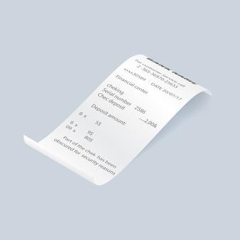 Elément de facture papier