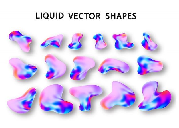 Élément de forme de dégradé holographique liquide