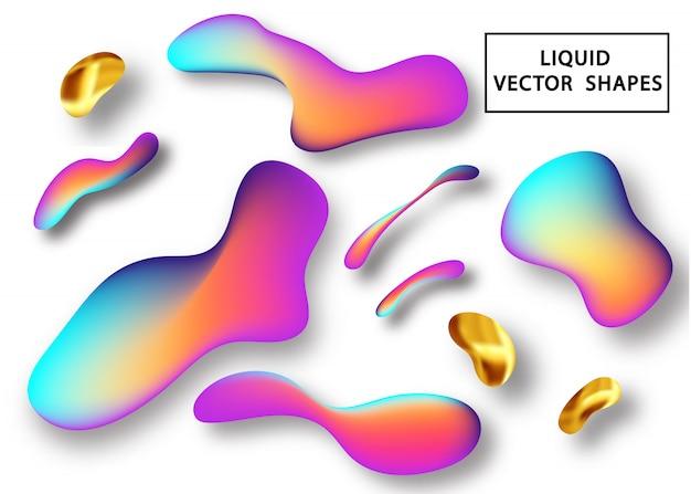 Élément de forme de dégradé liquide