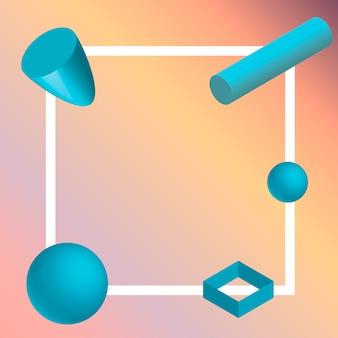 Élément géométrique 3d