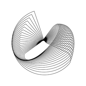 Élément géométrique circulaire abstrait