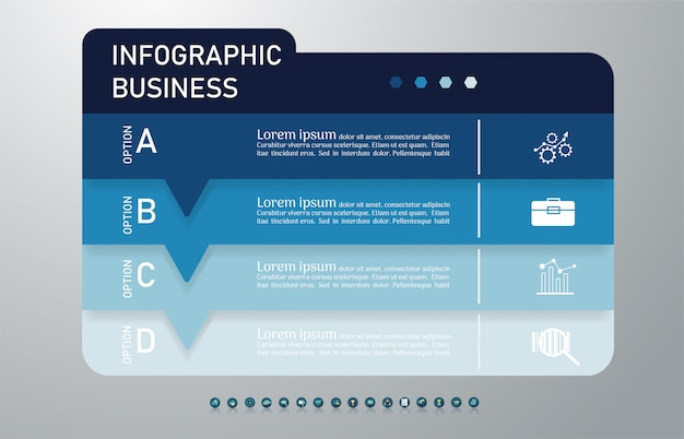 Élément de graphique business modèle infographique.