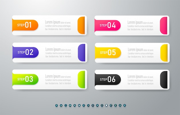 Élément de graphique design business infographic.