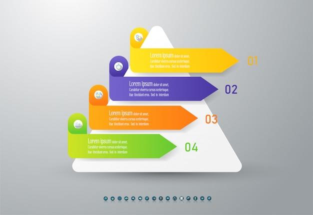 Élément de graphique design business options infographic.