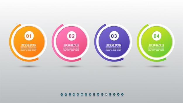 Élément de graphique infographie modèle business design.