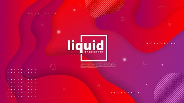 Élément graphique moderne abstrait. formes et vagues colorées dynamiques. abstrait dégradé avec des formes liquides qui coule