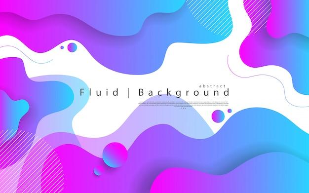 Élément graphique moderne abstrait. formes et vagues colorées dynamiques. gradient abstrait avec des formes liquides qui coule.