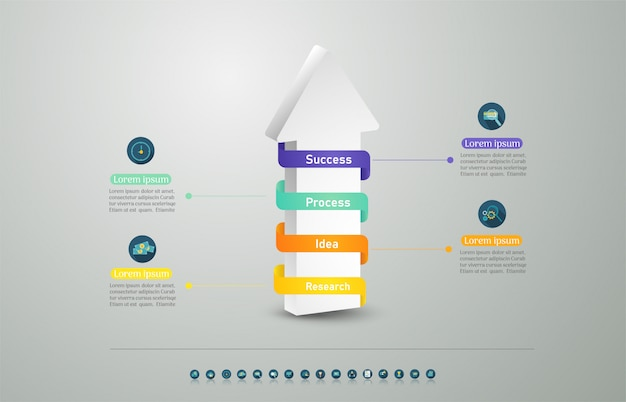 Élément de graphique options de conception business modèle options.