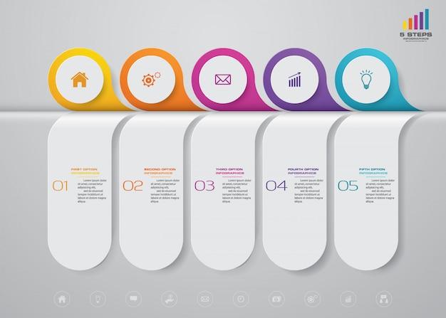 Élément d'infographie de chronologie