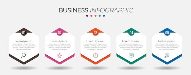 Élément d'infographie d'entreprise avec options