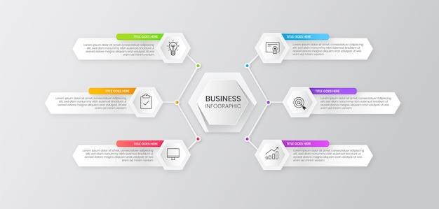 Élément d'infographie d'entreprise