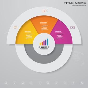 Élément d'infographie graphique de présentation.