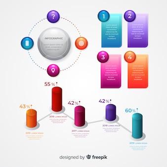 Élément infographique collectio